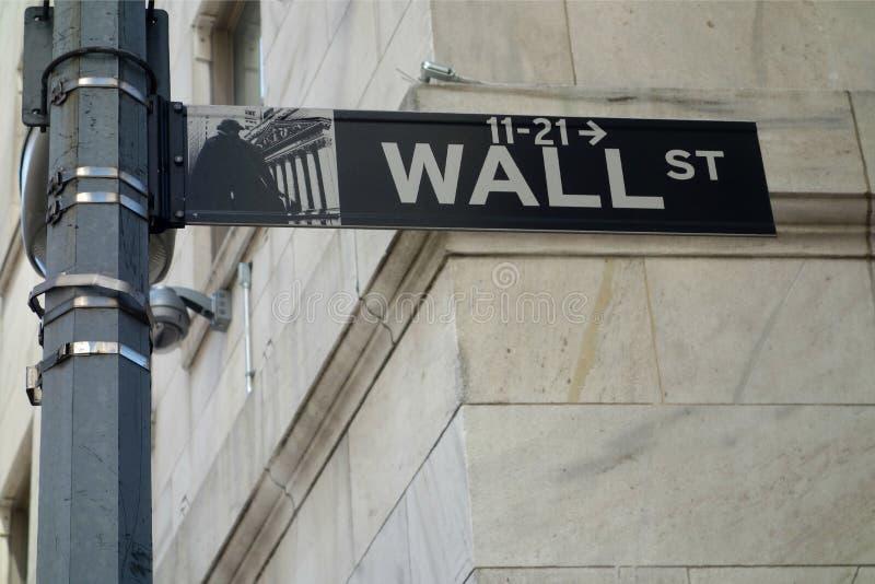 华尔街标志 库存照片