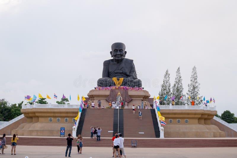 华欣泰国- Apr27, 2015年:Luang Pu Thuat雕象  免版税库存照片