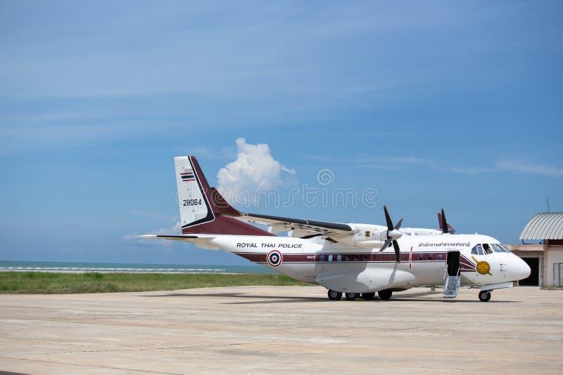 华欣,泰国5月21,2018 :没有的CASA/IPTN CN-235-220M 28064 Ro 库存照片