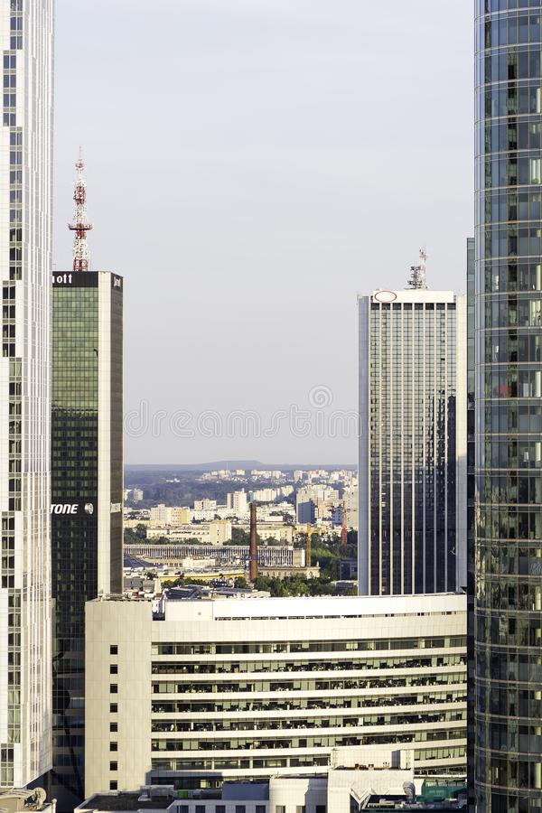 华沙商业中心 库存照片