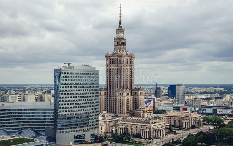 华沙在波兰 库存图片