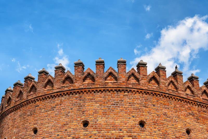 华沙外堡城垛 免版税库存图片