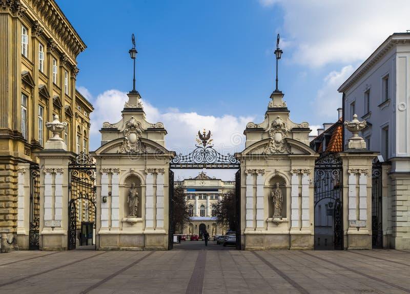 华沙大学门  库存照片
