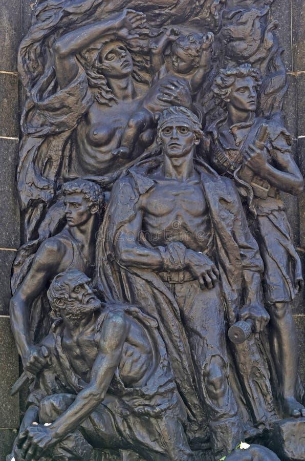 华沙少数民族居住区纪念碑 免版税库存图片