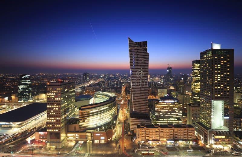 华沙市中心全景  免版税图库摄影
