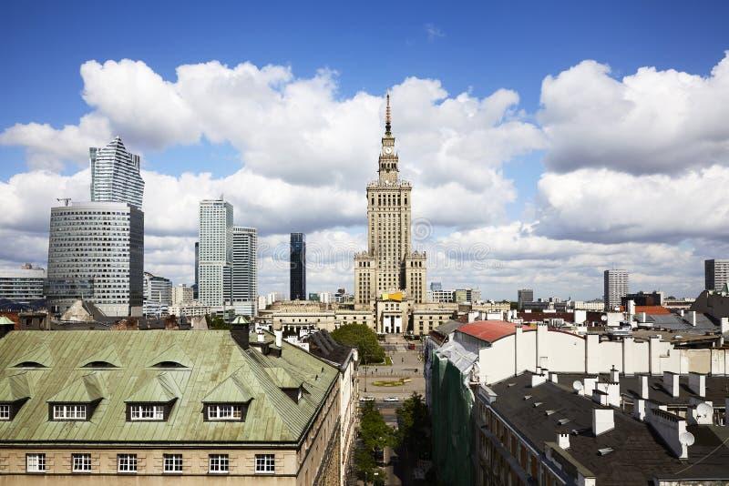 华沙市,波兰 库存照片