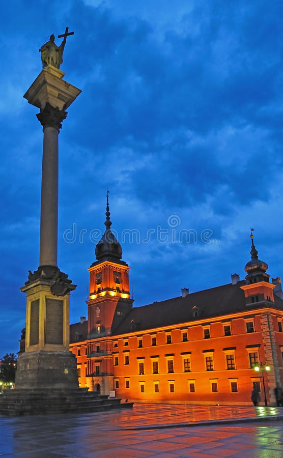 华沙老城镇 免版税图库摄影