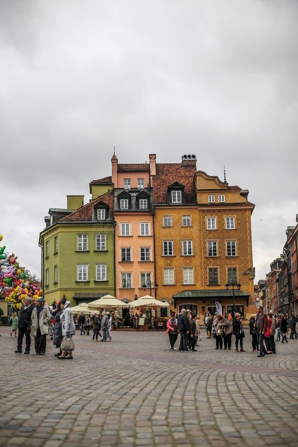华沙老城 免版税图库摄影