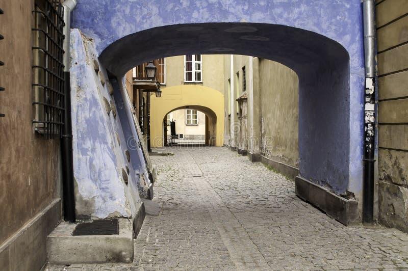 华沙老镇。 免版税库存图片
