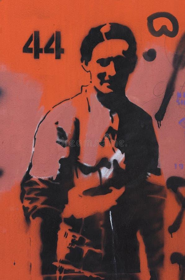 华沙起义壁画 库存图片