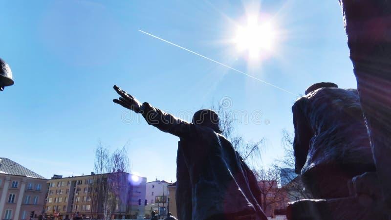 华沙起义纪念碑 免版税库存照片