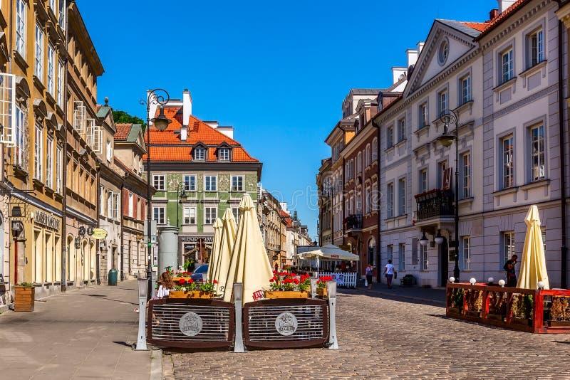 华沙,波兰街道视图的首都 图库摄影