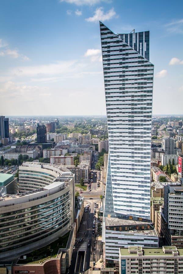 华沙,波兰都市风景- 6月2日 库存图片