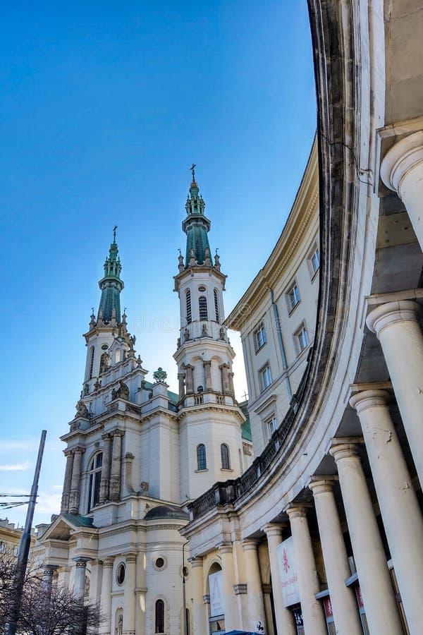 华沙,波兰,2019年3月7日:最圣洁的救主的教会 免版税库存图片