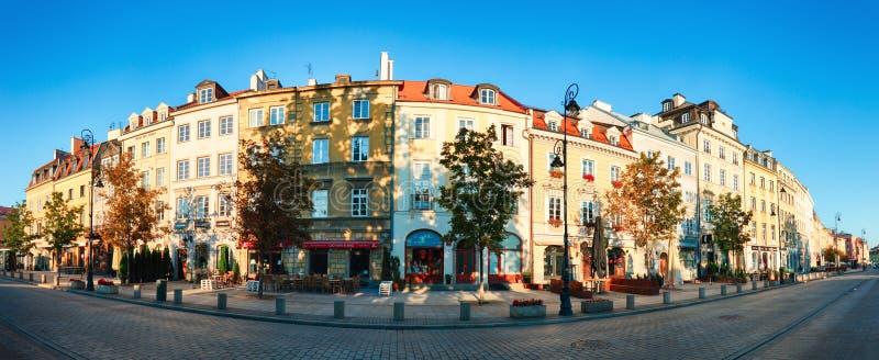 华沙,波兰, 20, 2016年8月;Krakowskie Przedmiescie街道 免版税库存图片