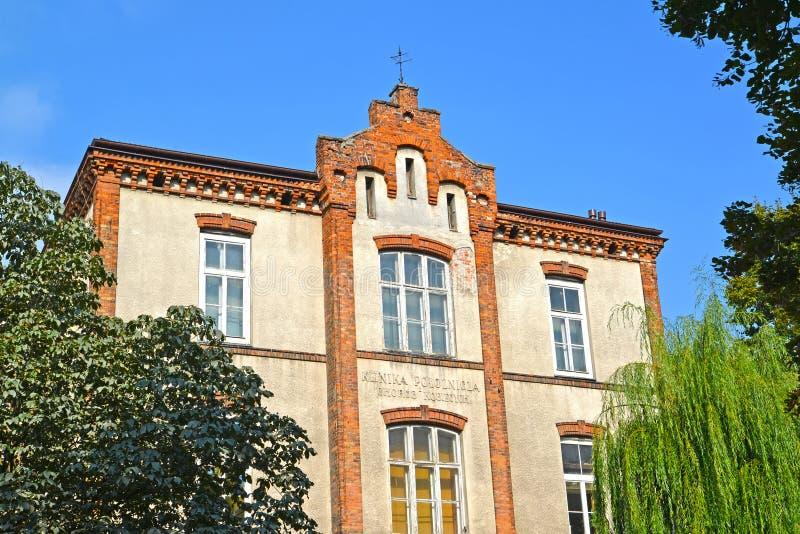 华沙,波兰 妇产科诊所大厦  免版税库存图片
