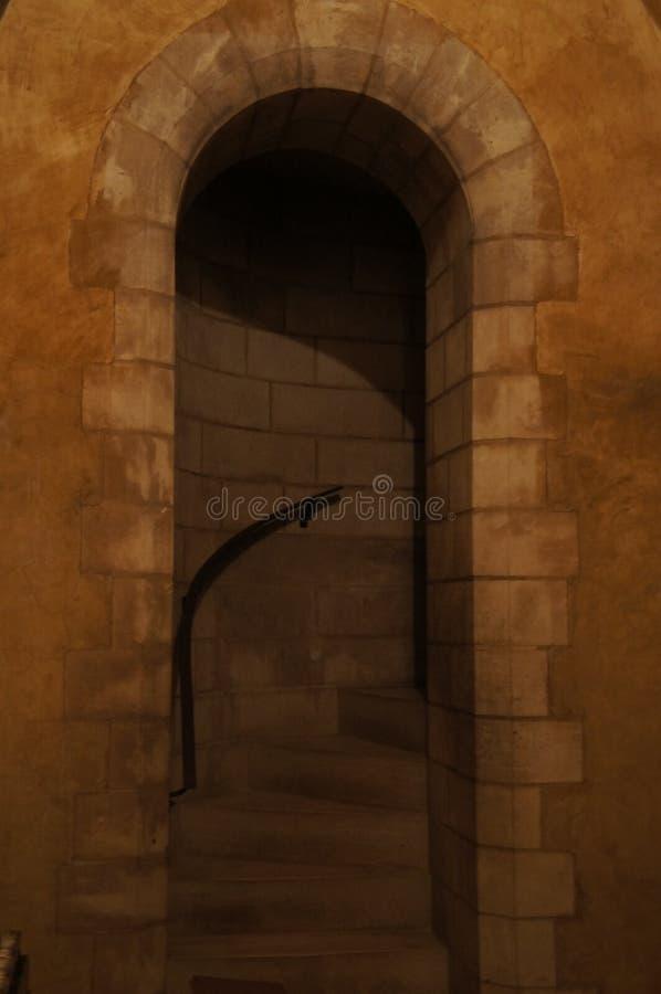 华盛顿全国大教堂-台阶和拱道 免版税库存图片