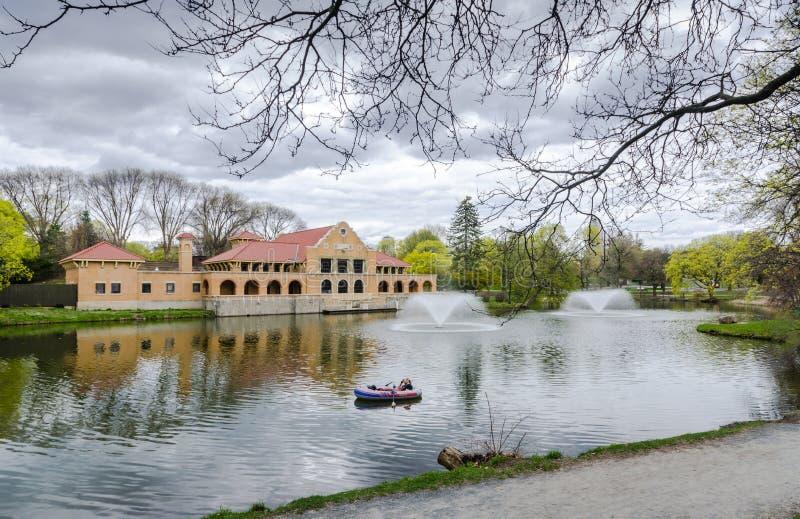 华盛顿公园Lakehouse -阿尔巴尼,纽约 免版税库存图片