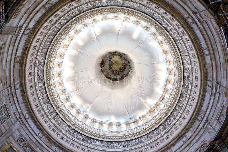 华盛顿国会大厦圆顶内部视图 库存图片