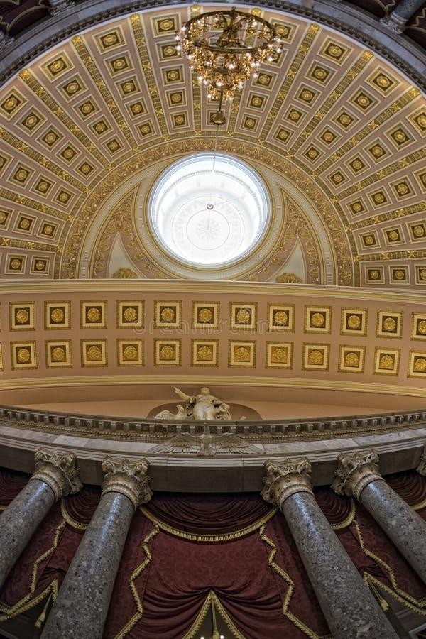 华盛顿国会大厦圆顶内部视图 免版税库存图片