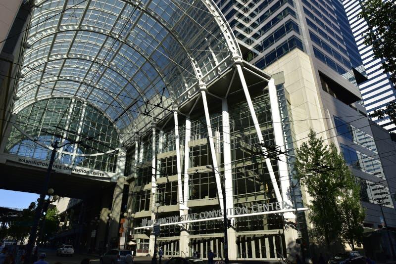 华盛顿州会议中心,西雅图,状态华盛顿,美国 免版税库存照片