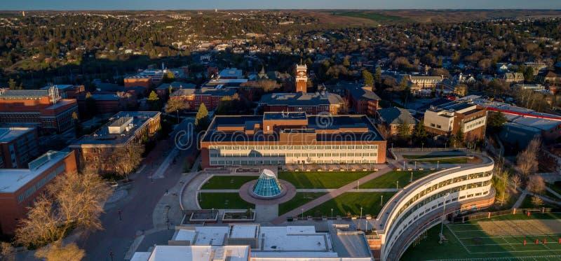 华盛顿州立大学校园鸟瞰图 库存照片