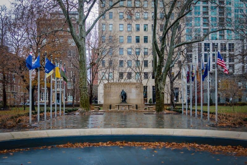 华盛顿广场公园-费城,宾夕法尼亚,美国 库存照片