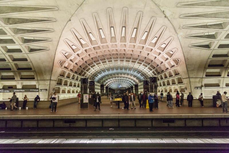 华盛顿特区地铁 库存图片