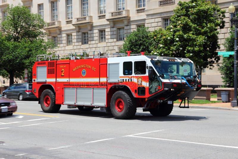 华盛顿特区消防车 免版税库存图片
