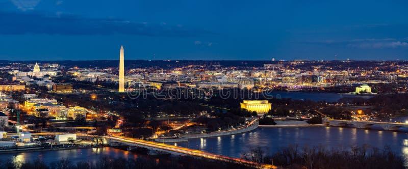 华盛顿特区空中全景 库存照片
