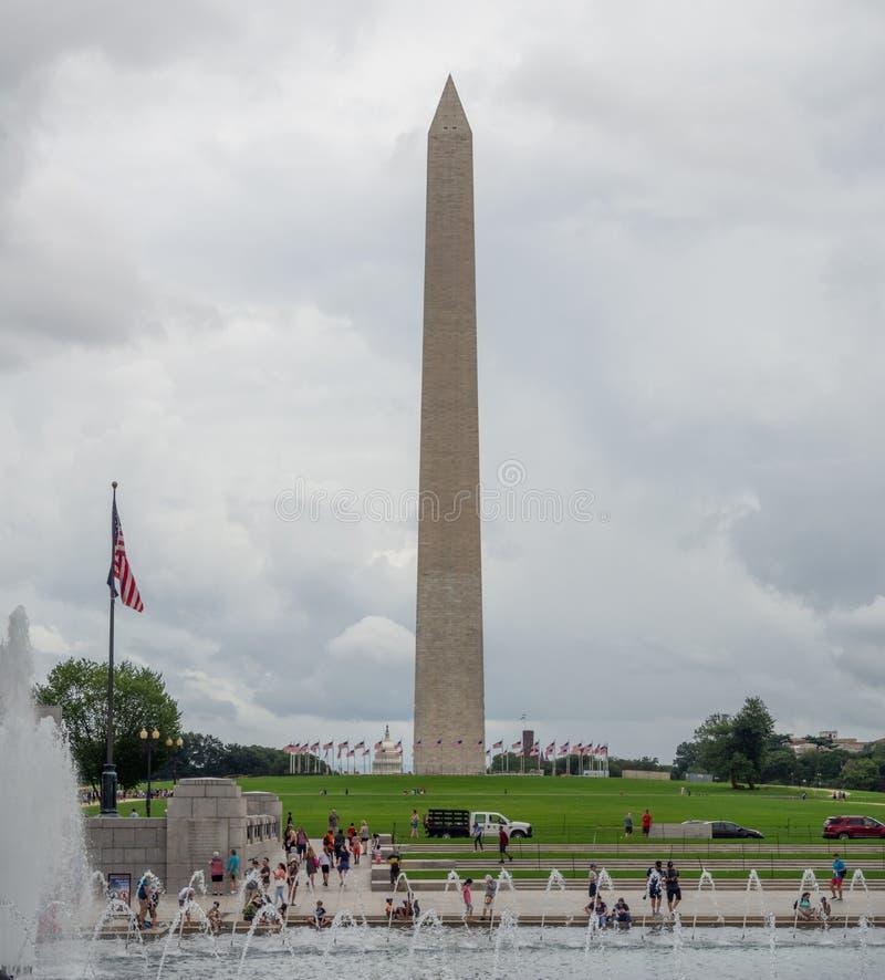 华盛顿特区,哥伦比亚特区,首都国家广场上的方尖碑, 库存照片