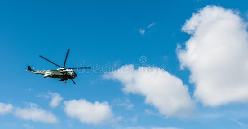华盛顿特区:2017年4月1日:美国海军陆战队员一Helicopte 免版税库存照片