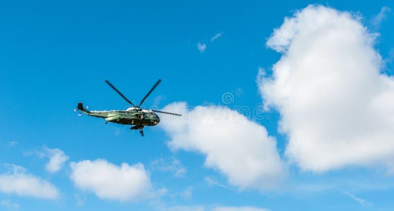 华盛顿特区:2017年4月1日:美国海军陆战队员一Helicopte 库存图片