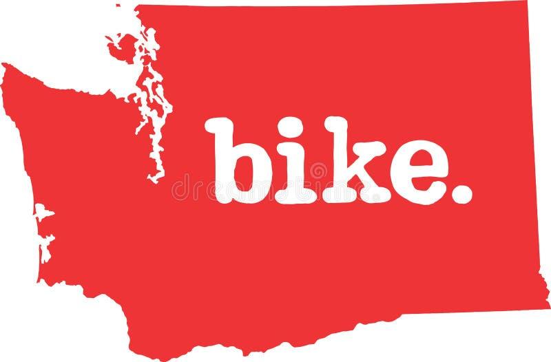 华盛顿自行车状态向量标志 库存例证