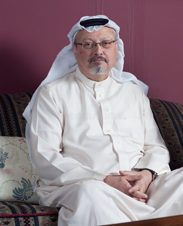 华盛顿邮报` s沙特新闻工作者贾迈勒Khashoggi画象  免版税图库摄影