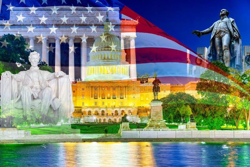华盛顿,美国,美国国会大厦,伊利亚斯S 格兰特纪念品 免版税库存照片