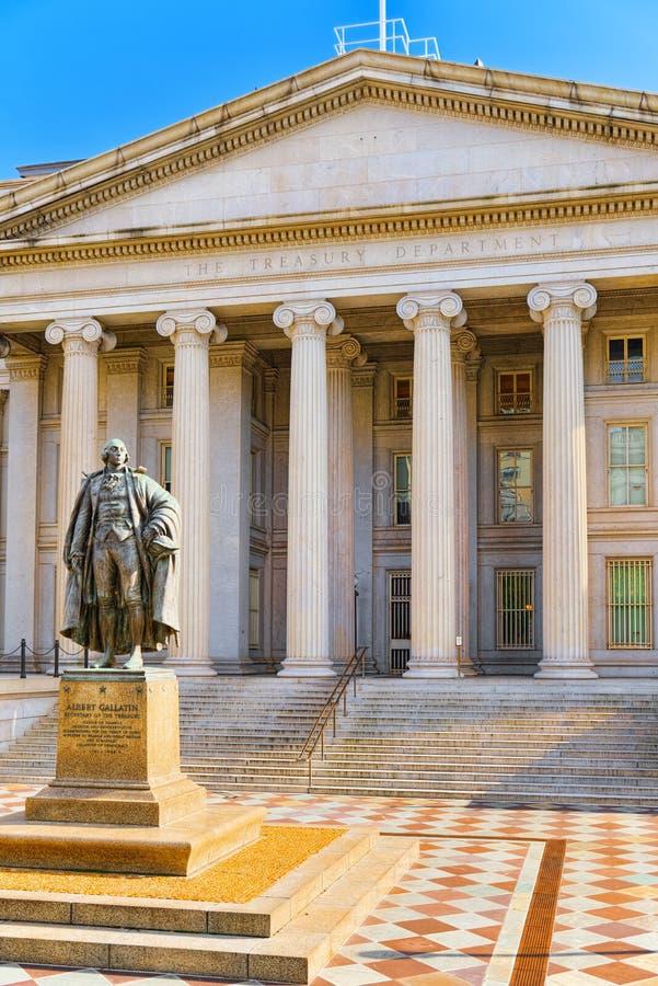 华盛顿,美国,美国财政部和国际冰球联合会  免版税库存照片