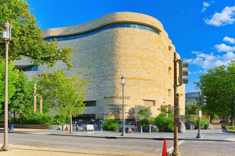 华盛顿,美国,美洲印第安人的国家博物馆 库存图片