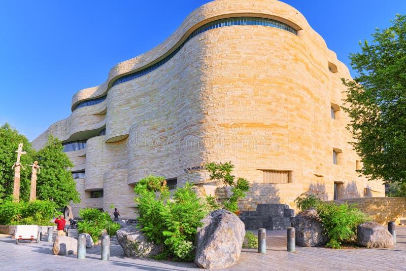 华盛顿,美国,美洲印第安人的国家博物馆 库存照片