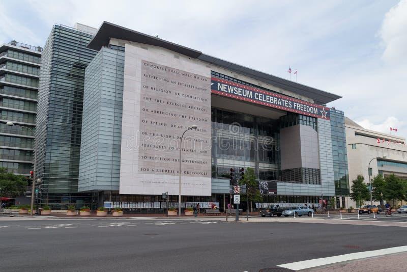 华盛顿, DC/USA -大约2015年7月:Newseum在华盛顿特区, 免版税图库摄影