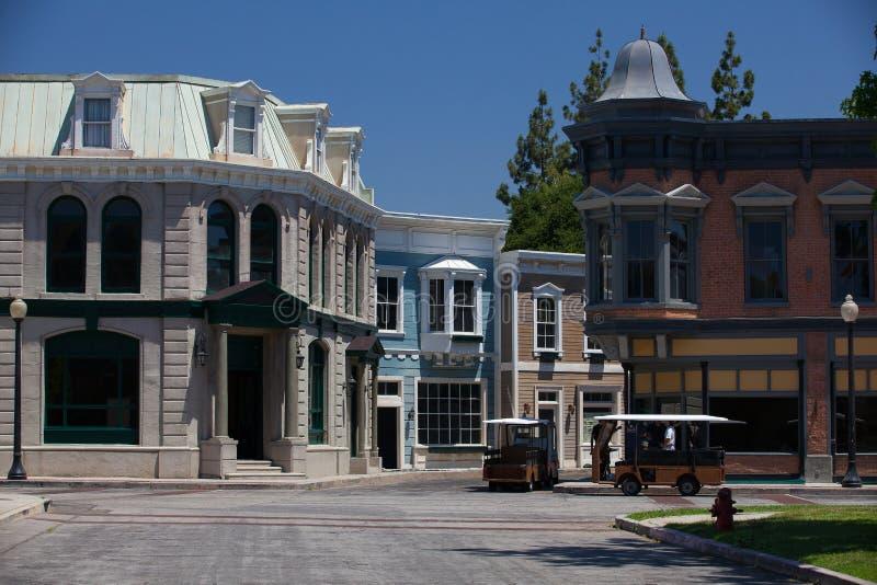 华纳兄弟演播室在柏本克,洛杉矶,美国 库存照片