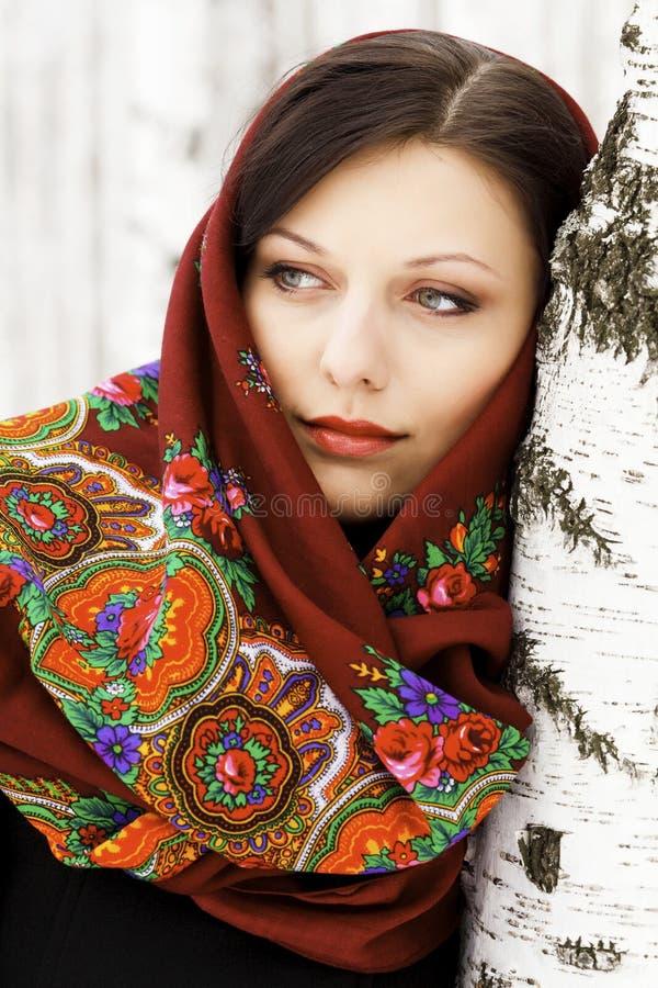 华美的俄国妇女 免版税库存图片