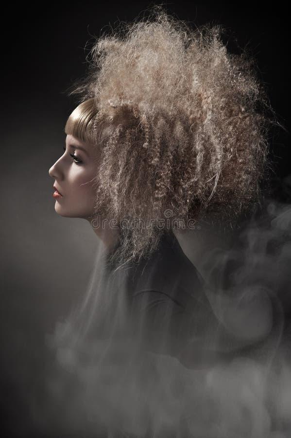 华美的头发妇女 免版税图库摄影