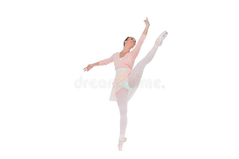 华美的芭蕾舞女演员跳舞 免版税库存照片