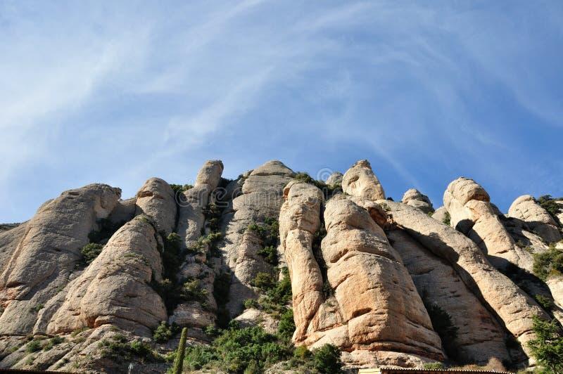 华美的蒙特塞拉特山在卡塔龙尼亚西班牙 库存图片