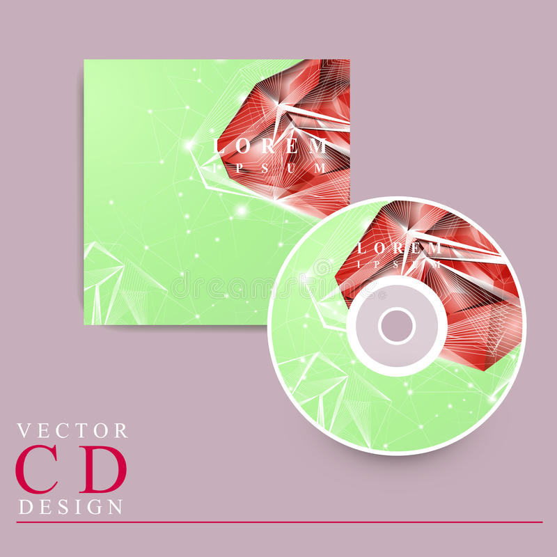 华美的CD的盖子模板设计 皇族释放例证
