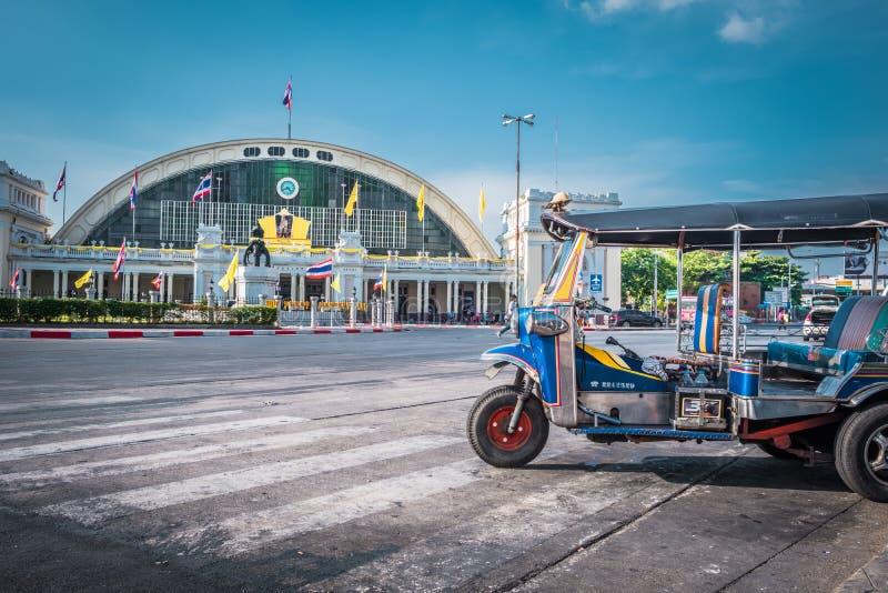 华Lamphong火车站或曼谷盛大中央终端火车站 免版税库存图片