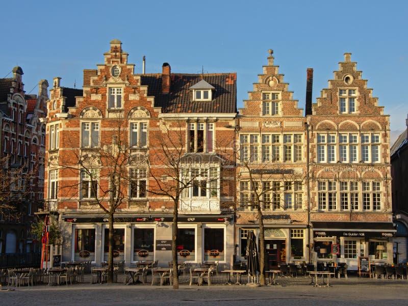 协会房子,跟特,比利时 免版税库存照片