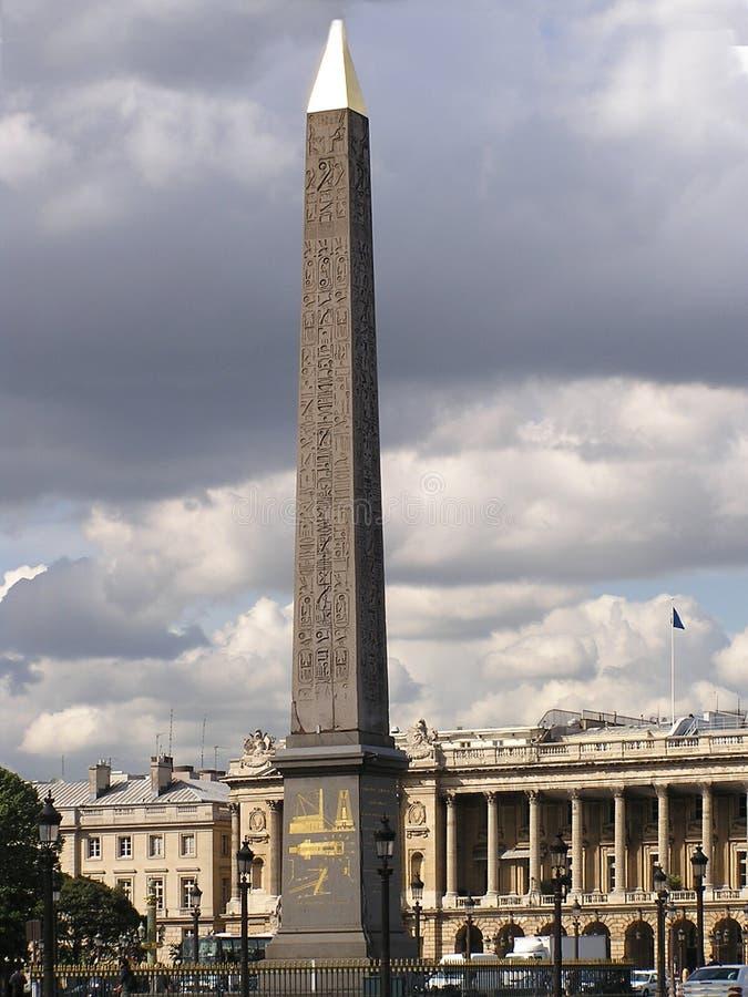 协和飞机方尖碑巴黎安排 免版税库存图片