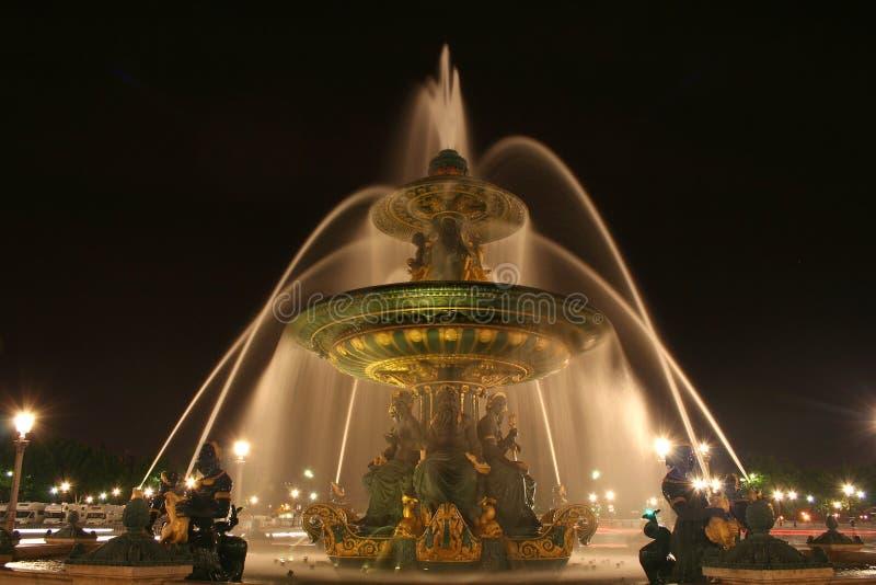 协和飞机de fountain法国la巴黎安排 库存照片